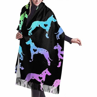 Yinyinyin.Womens Scarf Great Dane Heart Love Womens Scarf Large Soft Silky Pashmina Cashmere Shawl Wrap 68 X 196 Cm