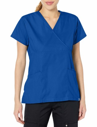 Fashion Seal Healthcare Women's Ladies Royal Simply Soft Mock Wrap Tunic S