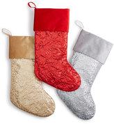 Holiday Lane Sequin Christmas Stockings