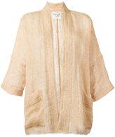Forte Forte oversized jacket - women - Linen/Flax - 1