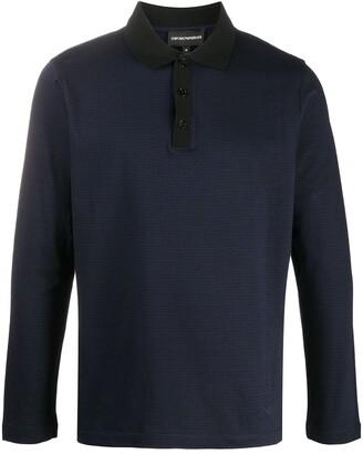 Emporio Armani Textured Polo Shirt