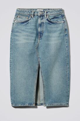 Weekday Wynn San Fran Denim Skirt - Blue