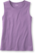 L.L. Bean Women's Pima Cotton Tee, Sleeveless Shell