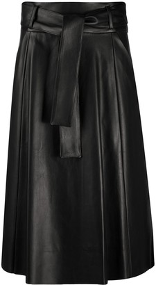 Drome tie-waist A-line skirt