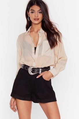 Nasty Gal Womens Roll With Us Denim Shorts - Black