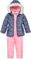 Carter's 2-Pc. Hooded Jacket with Faux-Fur Trim and Pants Snowsuit, Little Girls (4-6X)