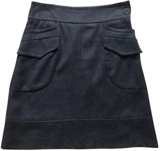 Sandro Anthracite Wool Skirt for Women