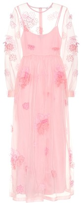 RED Valentino embroidered silk-tulle gown