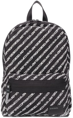 Diesel Logo-Print Backpack