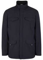 Armani Collezioni Navy Water-resistant Shell Jacket