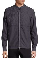Diesel Black Gold Quilted Front Zip-Up Shirt Jacket