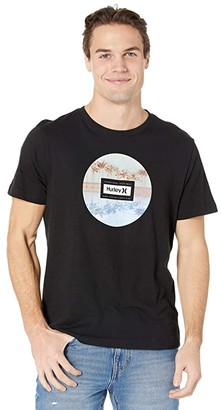 Hurley Palm Tree Collection Short Sleeve Graphic T-Shirt (Black) Men's Clothing