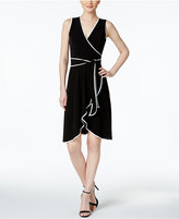 Calvin Klein Belted Faux Wrap Dress