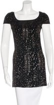 Rachel Zoe Metallic-Accented Textured Tunic