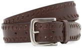 John Varvatos Five Notch Leather Belt