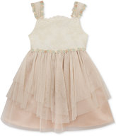 Rare Editions Lace Floral-Trim Ballerina Dress, Toddler Girls (2T-4T) & Little Girls (2-6X)