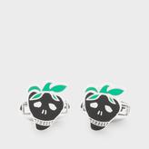 Paul Smith Men's Black Strawberry Skull Cufflinks