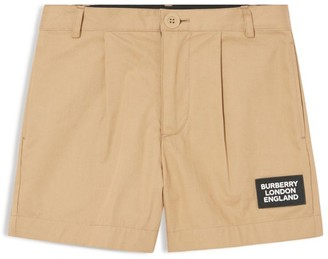Burberry Kids Cotton Twill Logo Shorts (3-12 years)