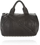 Alexander Wang Rocco In Pebbled Black With Black Nickel