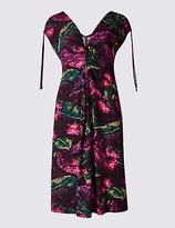 M&S Collection Floral Print Sleeveless Beach Dress