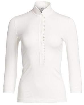 Akris Punto Women's Stand Collar Popover Shirt