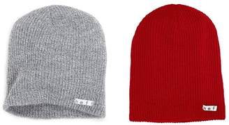 Neff 2 Pack Daily Beanie Grey/Red One Size/One Size