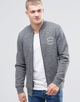 Jack and Jones Zip Through Sweat Bomber with Logo