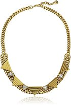 Yochi Triangles on Crystal Necklace, 18''+1.5'' Extender
