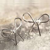 Otis Jaxon Silver Jewellery Silver Bow Stud Earrings