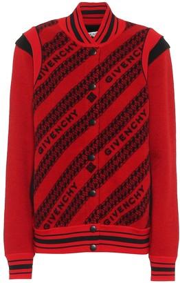 Givenchy Wool intarsia bomber jacket