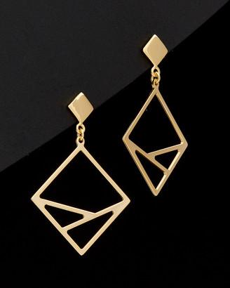 Italian Gold 14K Geometric Dangle Earrings