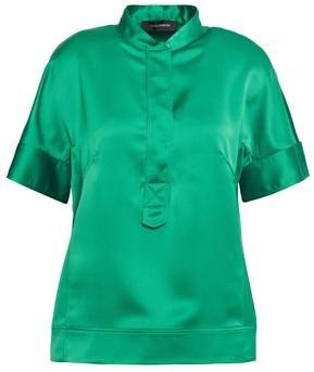 Cédric Charlier Satin-crepe Shirt