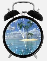 "Ikea New Palm Tree Alarm Desk Clock 3.75"" Room Decor X27 Will Be a Nice Gift"