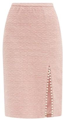 Giambattista Valli Faux Pearl-trimmed Cotton-blend Tweed Midi Skirt - Light Pink