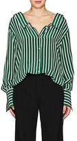 Robert Rodriguez Women's Striped Silk Crepe Blouse
