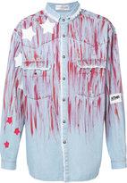 Faith Connexion star paint smudged denim shirt - men - Cotton - M
