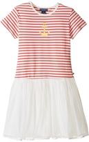 Toobydoo Short Sleeve Tulle Dress (Toddler/Little Kids/Big Kids)