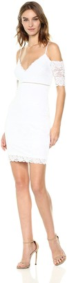 GUESS Women's Off The Shoulder Marcy Lace Dress