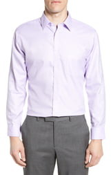 Nordstrom Mens Shop Smartcare Trim Fit Herringbone Dress Shirt