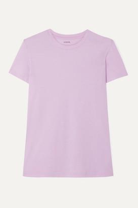 Vince Pima Cotton-jersey T-shirt - Lilac