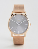 Limit Mesh Watch In Rose Gold Exclusive To Asos