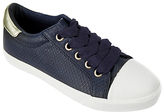 John Lewis Children's Paige Crocodile Pattern Shoes, Navy