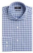 Hugo Boss Mark US Sharp Fit, Cotton Patterned Dress Shirt 15.5/RBlue