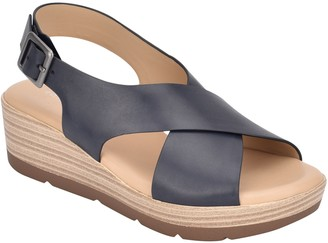 Easy Spirit Leather Rounded Toe Sandals - Kamila