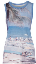 Current/Elliott The Muscle printed jersey tank