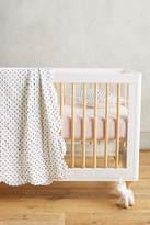 Anthropologie Swiss Dot Toddler Quilt