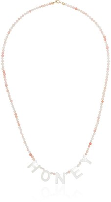 Roxanne First Honey beaded necklace