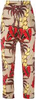 P.A.R.O.S.H. printed straight leg trousers - women - Silk/Spandex/Elastane - M