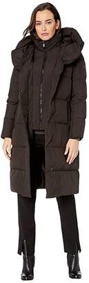 Lauren Ralph Lauren 3/4 Down Pillow Collar (Black) Women's Clothing