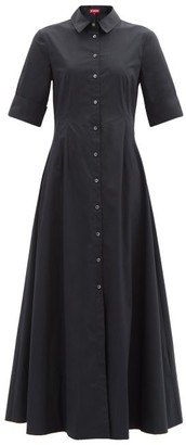 STAUD Joan Buttoned Maxi Shirt Dress - Black